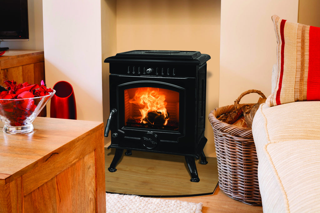 An image of The Fraser Free Standing Stove (8kW) which can burn solid fuels.