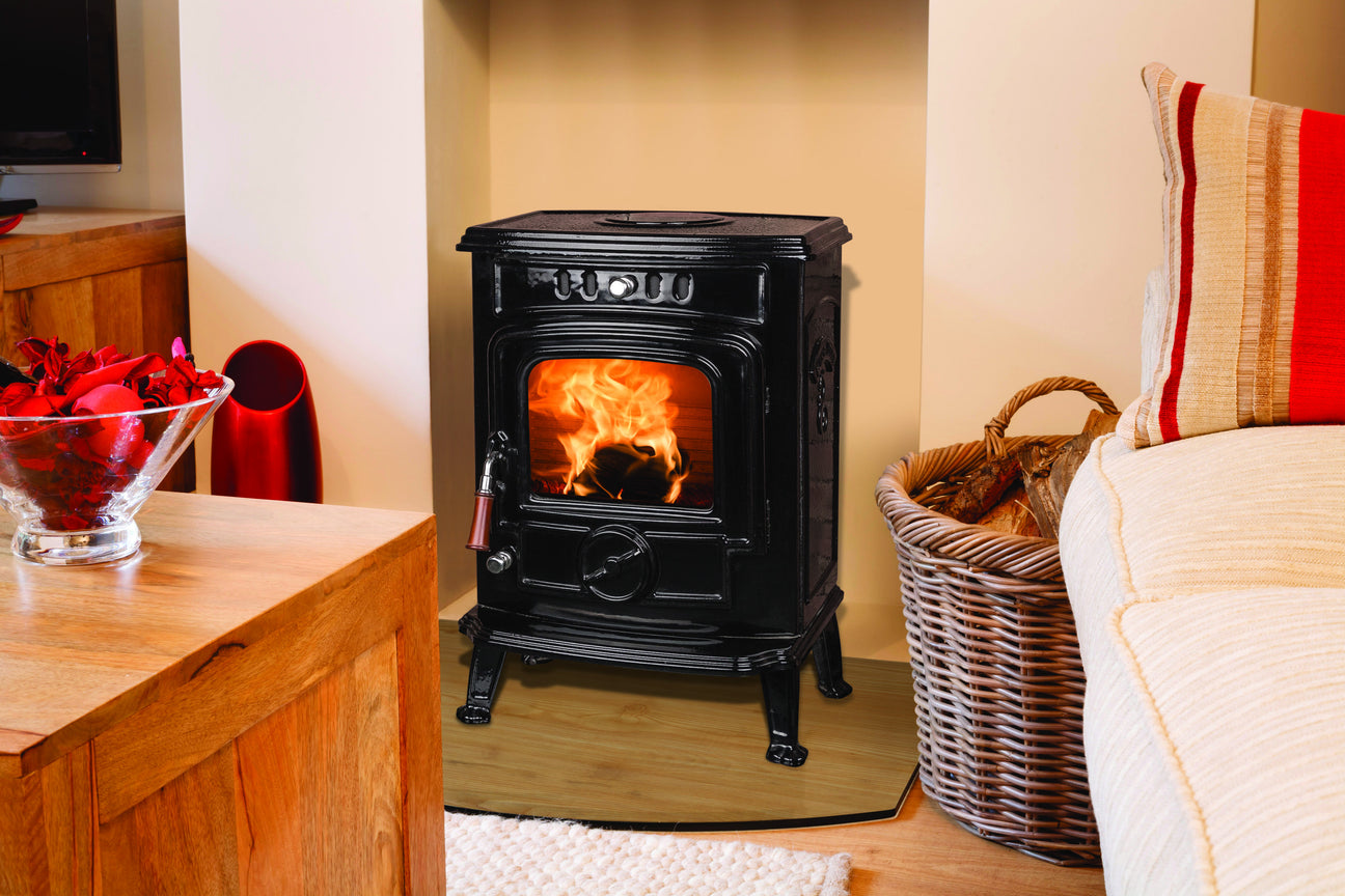 Image of Robin 5 kW Free Standing Stove in black enamel