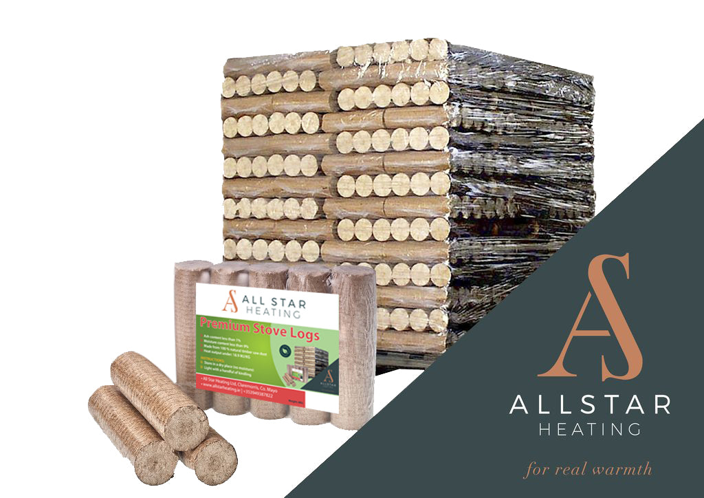 Image of All Star Eco Logs on a pallet