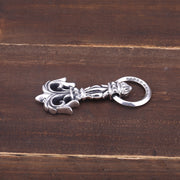 Floral Flame Pendant 925 Sterling Silver