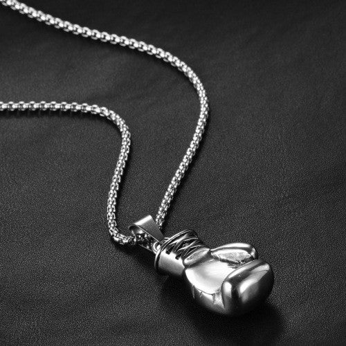 Boxing Glove High Quality Stainless Steel Pendant Necklace for Men & Women