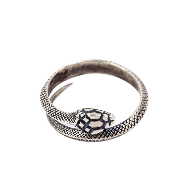 Snake Ring Wrapped Adjustable Ring