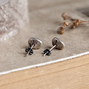 Silver Coffee Bean Stud Earring