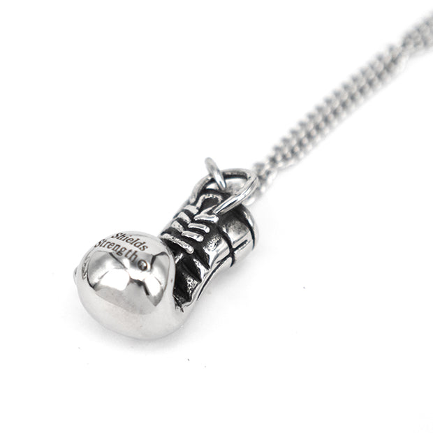 Fitness Boxing Glove Titanium Steel Necklace