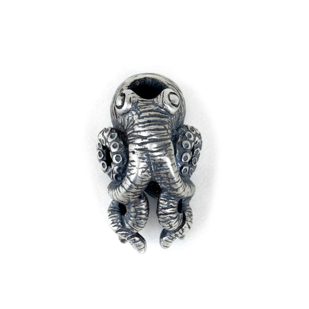 Silver Cthulhu Octopus Charm Paracord Bead EDC Accessories