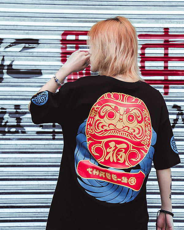 Japanese Damour Budaoweng Lucky Graphic Tee Shirt