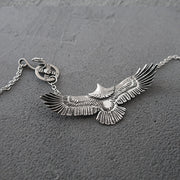 Goro's Style Spread Eagle Titanium Pendant Necklace