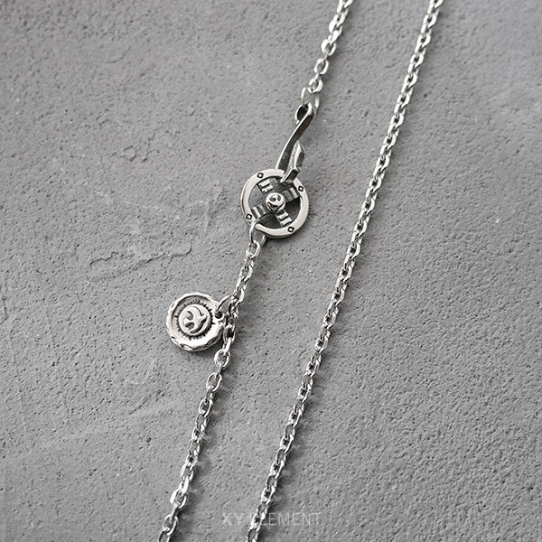 Takahashi Goro's Style Titanium Necklace Chain Set
