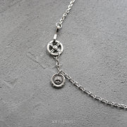 Stainless Steel Eagle Hook Cross Wheel Necklace Chain