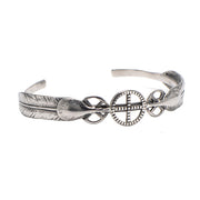 Goro's Style Native American Feather Bangle High Quality Titanium Steel