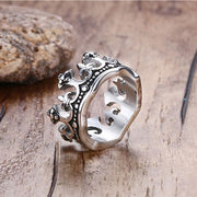 King's Crown Titanium Steel Ring