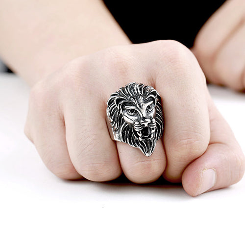 Lion King Titanium Steel Ring