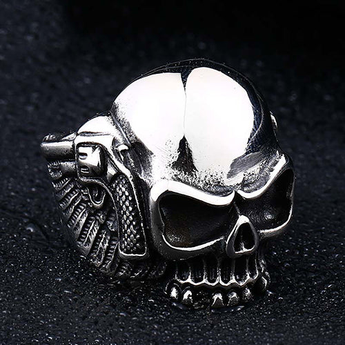 Skull Guns Titanium Steel Ring