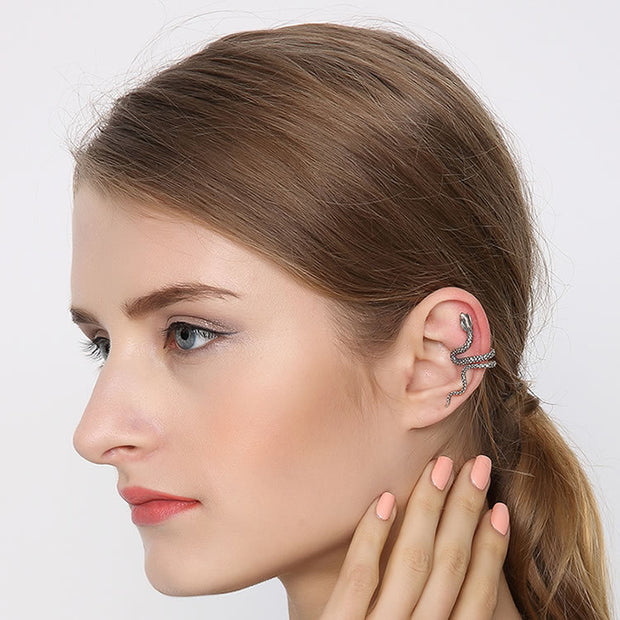 Sneak Earring Cuff Solid 925 Sterling Silver Unisex Ear Wrap Ear Cuff