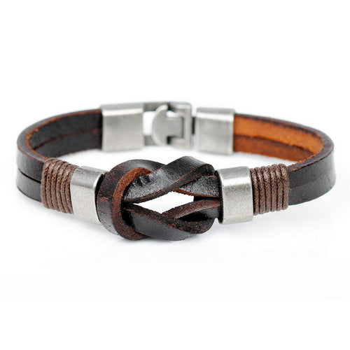 Braided Leather Bracelet [2 Variations]