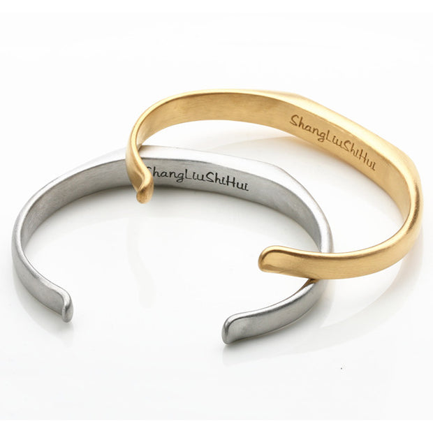 Minimalism Style Surgical Stainless Steel Bangle [2 Colors]