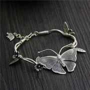 Unique Design Sterling Silver Butterfly Bracelet