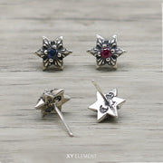 Hexagram 925 Solid Sterling Silver Stud Earring [5 Variations]