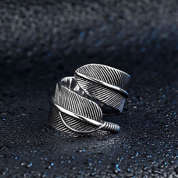 Takahashi Goro style Feather Titanium Ring