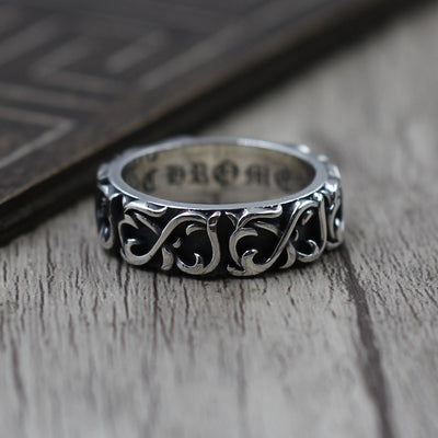 Eternity Vine Band Ring 925 Sterling Silver