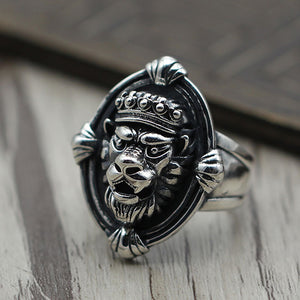 Lion King 925 Sterling Silver Open Ring