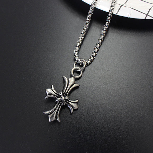 Chrome hearts style double floral cross pendant necklace 532 aag right carousel arrow aloadofball Gallery