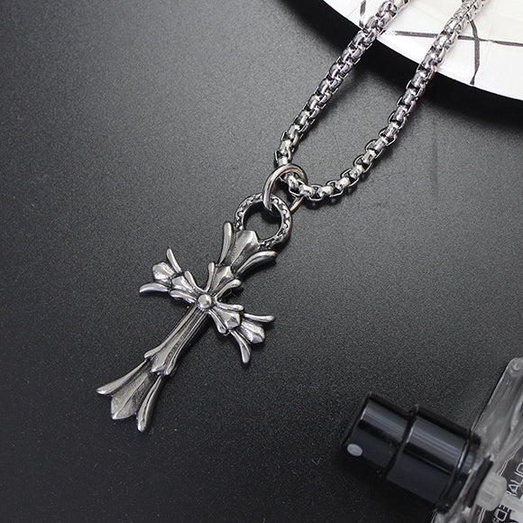 943326db6e7 Chrome Hearts Style Double Floral Cross Pendant Necklace  532 – AAG Selects