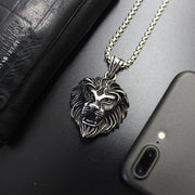 Lion King Vintage Style Titanium Steel Pendant Necklace
