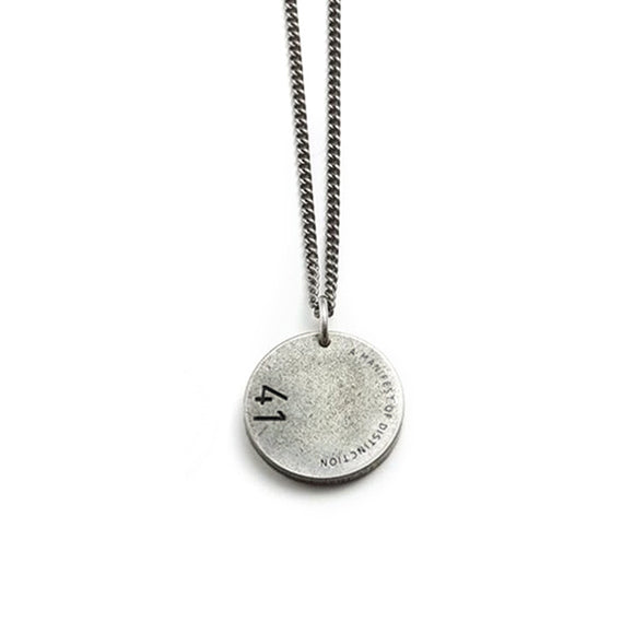 One Whole Life Forever Love Meaningful Titanium Steel Circle Disc Necklace