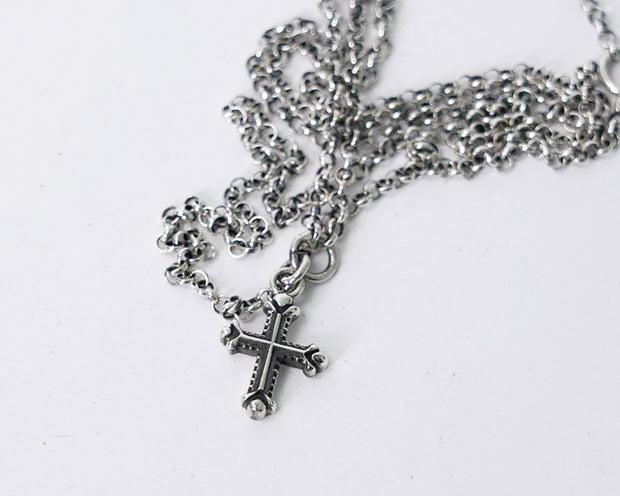 Minimalist Gothic Mini Cross Pendant Necklace