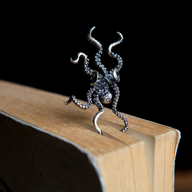 Kraken Octopus Ear Cuff Solid 925 Sterling Silver Unisex Earring Ear Wrap