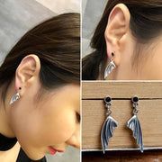 Bat Wings Stud Drop Dangle Earrings Gothic Earrings