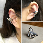 Kraken Octopus Ear Cuff 925 Sterling Silver Unisex Octopus Tentacle Earring