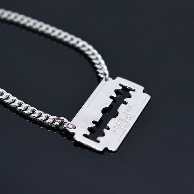 Steel Blade Stainless Steel Short Length Necklace