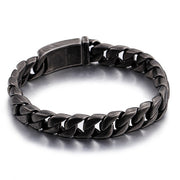 Retro Style 13mm Titanium Steel Vintage Finished Dark Chain Bracelet
