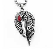 Red-crowned Crane Titanium Steel Pendant Necklace