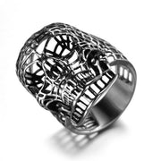 Hollow Skull Titanium Steel Ring [2 Colors]
