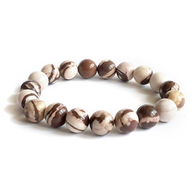 10mm Zebra Jasper Australian Natural Gemstone Bracelet