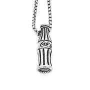 Retro Cola Bottle Titanium Steel Pendant Necklace