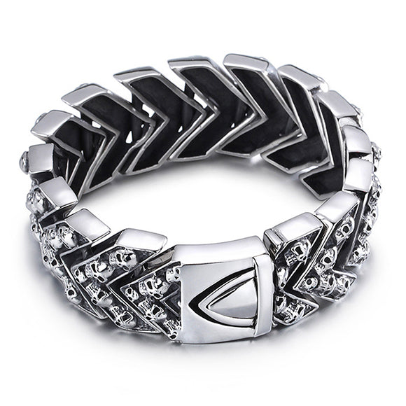 Skull Arrow Chain Titanium Steel Bracelet