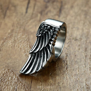 Fallen Angel Wing Titanium Steel Ring