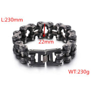 Bike Chain Bracelet Oxidized Dark Titanium Steel Bracelet
