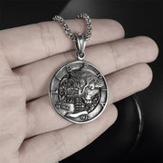 Skull Coin Titanium Steel Pendant Necklace