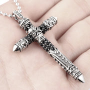 Chrome Style Cross Titanium Steel Pendant Necklace