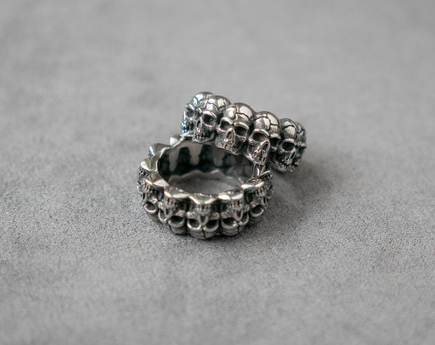 Skull Wrap Band Ring 316L Stainless Steel