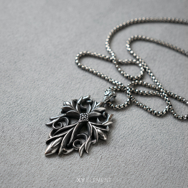 Floral Vine Pendant Necklace Stainless Steel Inspired by Mermaid