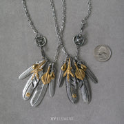 Stainless Steel Feather Necklace