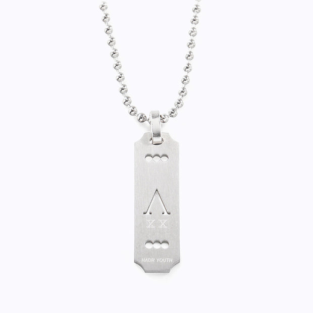 Minimalist Razor Tag Stainless Necklace Necklace