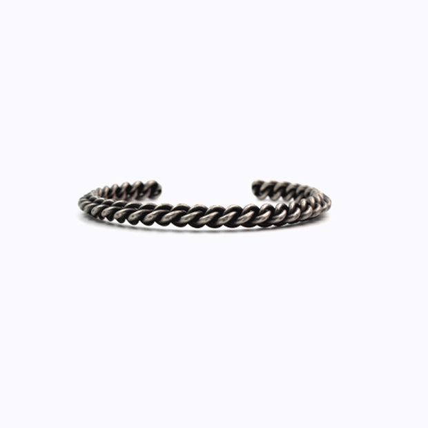 Minimalist Braided Rope Bangle Cuff Bracelet