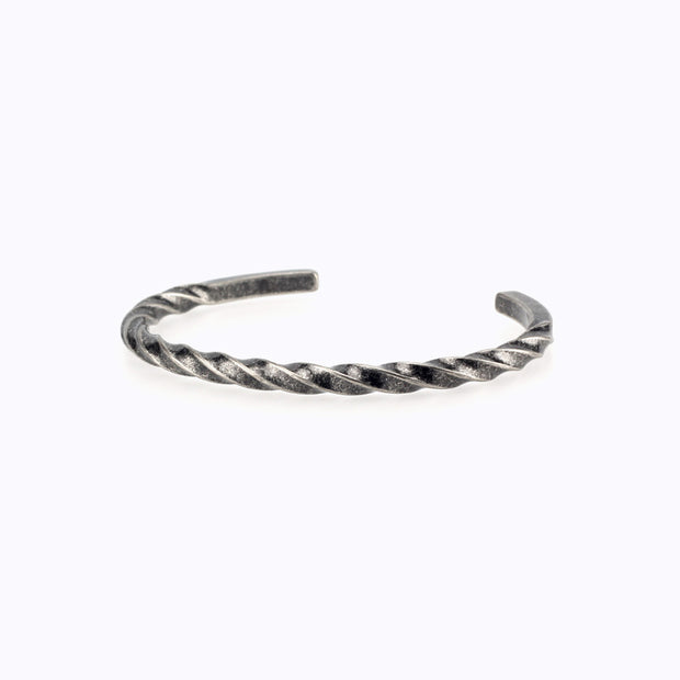 Minimalist Screw Twisted Bangle Cuff Bracelet
